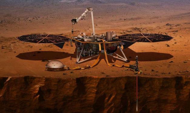 """سفینه ی """"اینسایت""""  بر سطح سرخ مریخ نشست"""