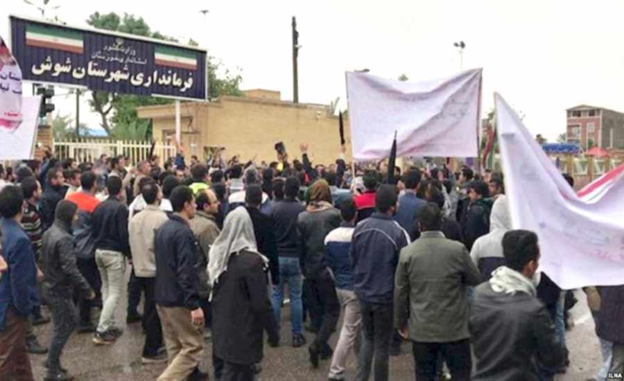 ادامه اعتراضهای کارگران در خوزستان؛ حضور هزاران معترض در مرکز شهر اهواز