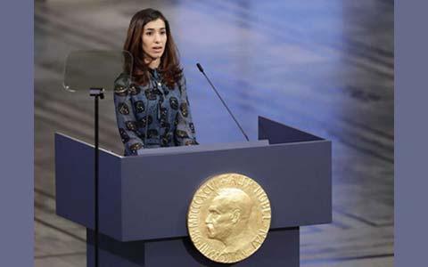 نادیا مراد برنده جایزه صلح نوبل۲۰۱۸/برگردان: عباس شکری
