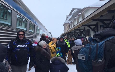 ورود اولین قطار به چرچ هیل در شمال مانیتوبا بعد از ۱۸ ماه