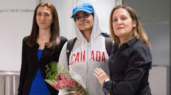 فرار دختر نوجوان از عربستان سعودی به کانادا