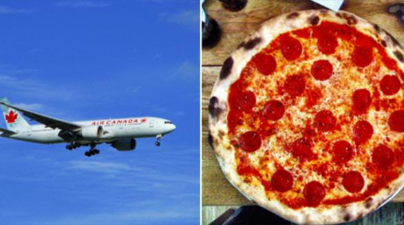 خلبان ایرکانادا مسافران را به صرف پیتزا مهمان کرد