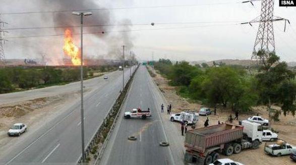 انفجار خط لوله گاز در خوزستان ۱۱ کشته و زخمی بر جای گذاشت