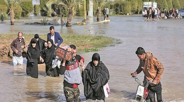 سیل در خوزستان؛ بیش از ۲۰۰ روستا و پنج منطقه اهواز تخلیه شدند