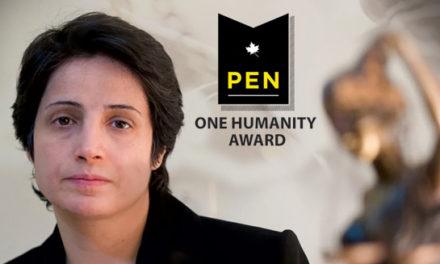 اهدای جایزه ی  انجمن قلم کانادا به نسرین ستوده