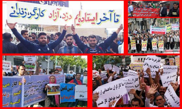 یورش نیروهای امنیتی و انتظامی به تجمع کارگران در روز جهانی کارگر