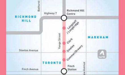 گسترش خط مترو تا ریچموندهیل سنتر تا ده سال آینده