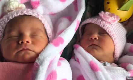 خواهر و برادر دوقلو در یک روز صاحب فرزند شدند