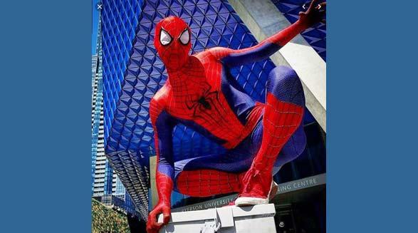مرد عنکبوتی واقعی در تورنتو