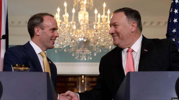 وزرای خارجه آمریکا و بریتانیا درباره نقش بی ثبات کننده ایران در خاورمیانه گفت و گو کردند