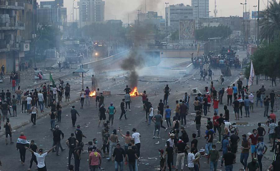 آمار کشته شدگان در اعتراضات عراق به ۲۱ نفر رسید