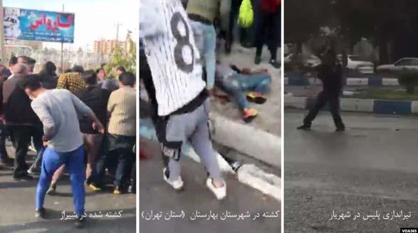 به رغم وجود فیلمهای شلیک ماموران به مردم، سپاه قصد دارد تیراندازی را به گردن معترضان بیاندازد