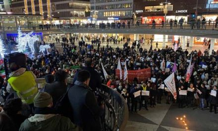 گزارش و قطعنامه تظاهرات همبستگی با مردم ایران در استکهلم