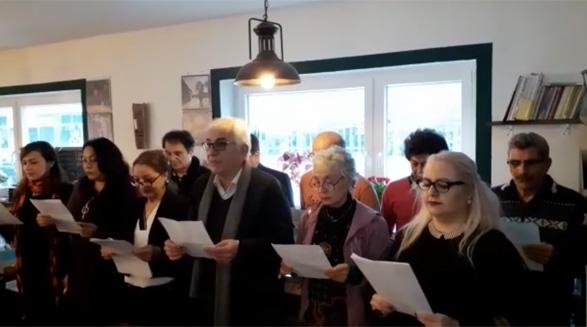 جشن نخستین سالروز تاسیس گروه نمایشنامه خوانی دنیا در کلن/ جواد طالعی