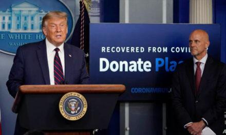 پرزیدنت ترامپ از مجوز استفاده از پلاسمای خون بهبودیافتگان از کرونا خبر داد؛ ۳۵ درصد آمار مرگ کمتر میشود