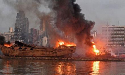 انفجار مهیب پایتخت لبنان؛ مکرون وارد بیروت شد، افزایش قربانیان به ۱۴۵ نفر