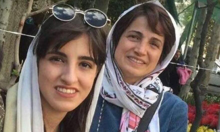 دختر ۲۰ ساله نسرین ستوده وکیل زندانی ساعاتی بازداشت و با وثیقه آزاد شد