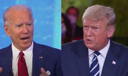 پرزیدنت ترامپ و جو بایدن همزمان در دو برنامه جداگانه تلویزیونی به پرسشهای رأی دهندگان پاسخ دادند