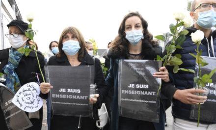 برگزاری مراسم یادبود معلم تاریخ کشتهشده در پاریس؛ مظنون یازدهم بازداشت شد