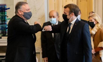 گفتگوی مایک پمپئو با مکرون در پاریس درباره فعالیتهای بیثباتکننده جمهوری اسلامی ایران