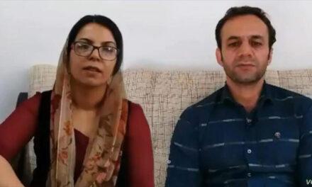 فریده ویسی و سیروس عباسی، دو فعال مدنی اهل کردستان؛